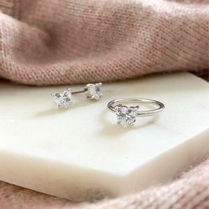 Heart To Heart Studs + Ring Set